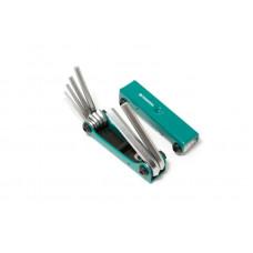 Набор ключей 6-гранных складной, 7пр.(2.5, 3- 6, 8, 10мм) Forsage
