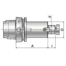 Оправка PUMORI HSK63 для торцовых  фрез