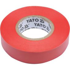 Лента изоляционная красная 15 мм*0,13 мм*20 м YATO( (Польша) YT-81592