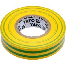 Лента изоляционная желто-зеленая 15 мм*0,13 мм*20 м YATO( (Польша) YT-81593