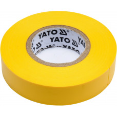 Лента изоляционная желтая 15 мм*0,13 мм*20 м YATO( (Польша) YT-81594