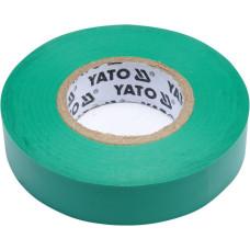 Лента изоляционная зеленая 15 мм*0,13 мм*20 м YATO( (Польша) YT-81595