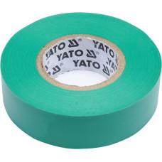 Лента изоляционная зеленая 19 мм*0,13 мм*20 м YATO( (Польша) YT-81652