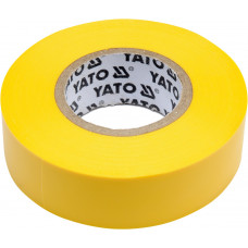 Лента изоляционная желтая 19 мм*0,13 мм*20 м YATO( (Польша) YT-81654