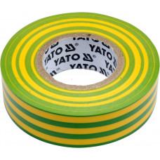 Лента изоляционная желто-зеленая 19 мм*0,13 мм*20 м YATO( (Польша) YT-81655