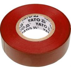Лента изоляционная красная 19 мм*0,13 мм*20 м YATO( (Польша) YT-8166