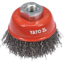 "Щетка-крацовка ""чашка"" стальная INOX 65 мм YATO (Польша) YT-47658"