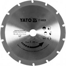 Диск пильный по дереву 185х20х2.4х1.8 мм 14Т YATO (Польша) YT-60628