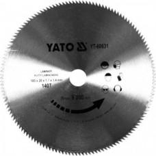 Диск пильный по ламинату 185х20х1.7х1.4 мм 140Т YATO (Польша) YT-60631