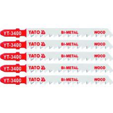 Полотно для электролобзика по дереву/металлу BIM L-100 мм 6TPI 5 пр. YATO (Польша) YT-3400