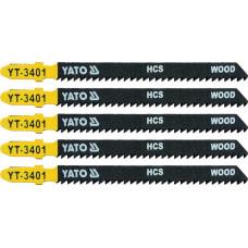 Полотно для электролобзика по дереву/ПВХ HCS L-100 мм 10TPI 5 пр. YATO (Польша) YT-3401