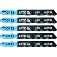 Полотно для электролобзика по металлу HSS L-75 мм 21TPI 5 пр. YATO (Польша) YT-3412