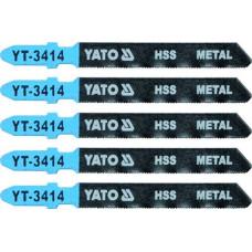 Полотно для электролобзика по металлу HSS L-75 мм 32TPI 5 пр. YATO (Польша) YT-3414