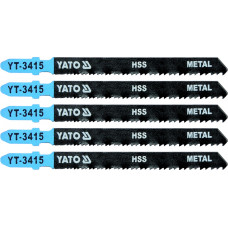 Полотно для электролобзика по металлу HSS L-100 мм 24-10TPI 5 пр. YATO (Польша) YT-3415