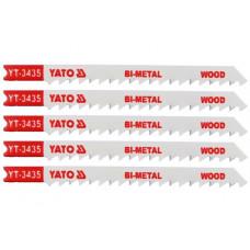 Полотно для электролобзика по дереву/металлу BIM L-100 мм 6TPI 5 пр. YATO (Польша) YT-3435