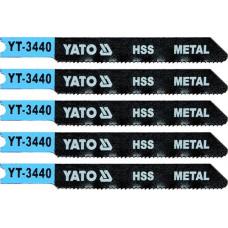 Полотно для электролобзика по металлу HSS L-70 мм 21TPI 5 пр. YATO (Польша) YT-3440