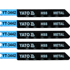 Полотно для электролобзика по металлу HSS L-70 мм 36TPI 5 пр. YATO (Польша) YT-3442
