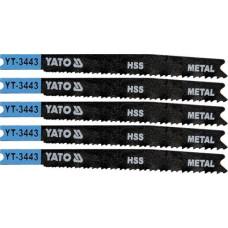 Полотно для электролобзика по металлу HSS L-91,5 мм 21-16TPI 5 пр. YATO (Польша) YT-3443