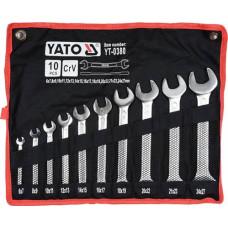"Набор ключей рожковых двусторонних 6-27 мм 10 шт. ""сатин"" YATO (Польша) YT-0380"